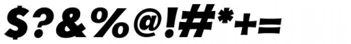 YWFT Basel Black Oblique Font OTHER CHARS