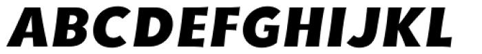 YWFT Basel Black Oblique Font UPPERCASE