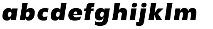 YWFT Basel Black Oblique Font LOWERCASE