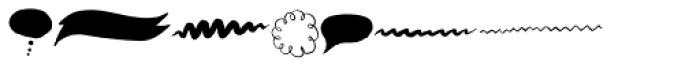 YWFT Burtonian Dingbats Font UPPERCASE