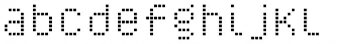 YWFT Caliper Regular Cubed Font LOWERCASE