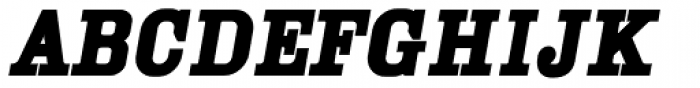 YWFT Cam Bold Oblique Font UPPERCASE