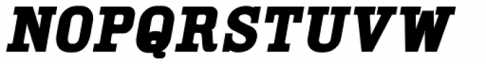 YWFT Cam Bold Oblique Font LOWERCASE