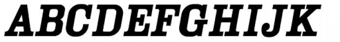 YWFT Cam Oblique Font UPPERCASE