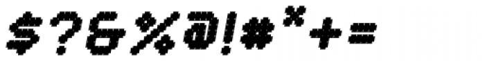 YWFT Crossover Black Oblique Font OTHER CHARS