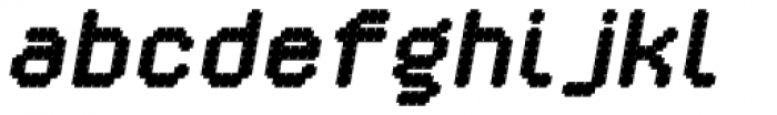 YWFT Crossover Black Oblique Font LOWERCASE