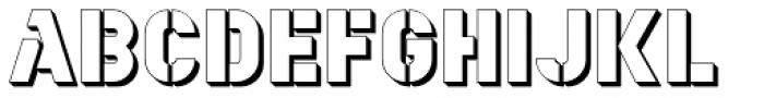 YWFT Estenceler Shadow Font LOWERCASE
