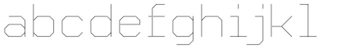 YWFT Formation Thin Font LOWERCASE