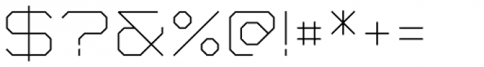 YWFT Formation UltraLight Font OTHER CHARS