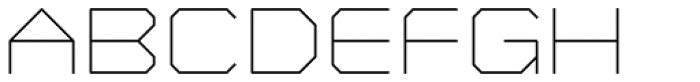 YWFT Formation UltraLight Font UPPERCASE