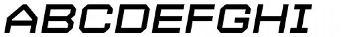 YWFT Maetl Bold Oblique Font UPPERCASE