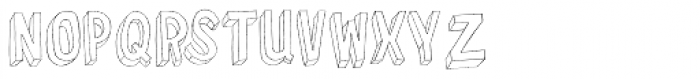 YWFT Merry 3 D Font UPPERCASE