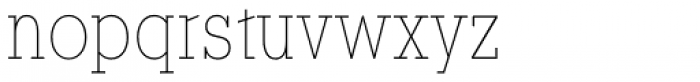 YWFT Motown Condensed Thin Font LOWERCASE