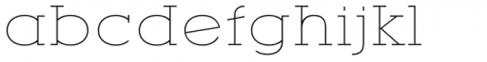 YWFT Motown Expanded Thin Font LOWERCASE