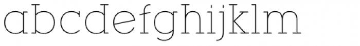 YWFT Motown Thin Font LOWERCASE