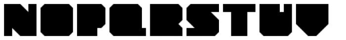 YWFT Novum Bold Font UPPERCASE