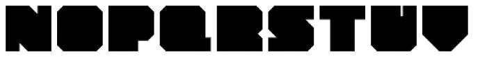 YWFT Novum Extra Bold Font UPPERCASE