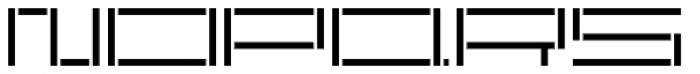 YWFT Reversion Light Broken Font UPPERCASE