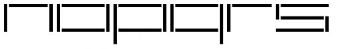 YWFT Reversion Light Broken Font LOWERCASE