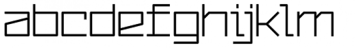 YWFT Service Font LOWERCASE