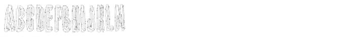 YWFT Shade Line Font UPPERCASE