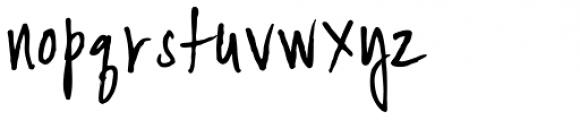 YWFT Signature Light Font LOWERCASE