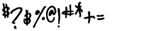 YWFT Signature Regular Font OTHER CHARS