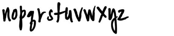 YWFT Signature Regular Font LOWERCASE