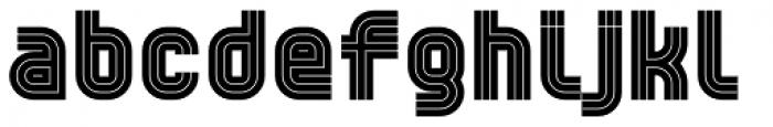 YWFT Trisect Black Font LOWERCASE