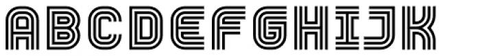 YWFT Trisect DemiBold Font UPPERCASE