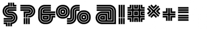 YWFT Trisect ExtraBold Font OTHER CHARS