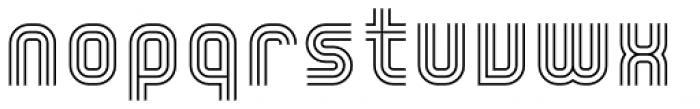 YWFT Trisect Light Font LOWERCASE