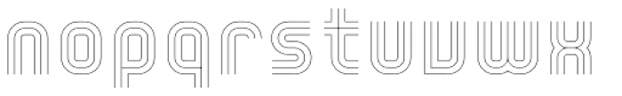 YWFT Trisect Thin Font LOWERCASE