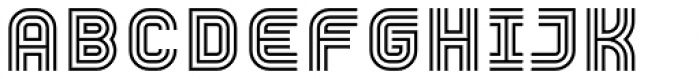 YWFT Trisect Font UPPERCASE