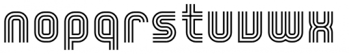 YWFT Trisect Font LOWERCASE