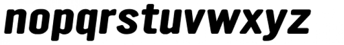 YWFT Ultramagnetic Expanded Bold Oblique Font LOWERCASE