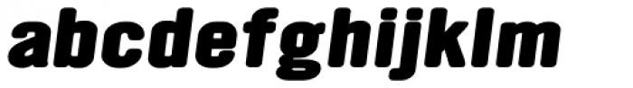 YWFT Ultramagnetic Expanded Extra Bold Oblique Font LOWERCASE