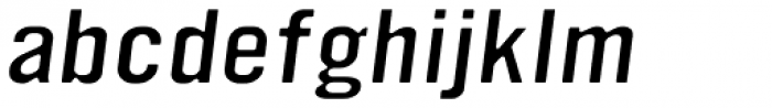 YWFT Ultramagnetic Expanded Light Oblique Font LOWERCASE