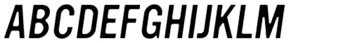 YWFT Ultramagnetic Light Oblique Font UPPERCASE