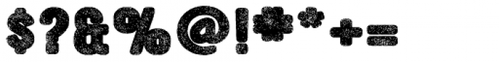 YWFT Ultramagnetic Rough Black One Font OTHER CHARS