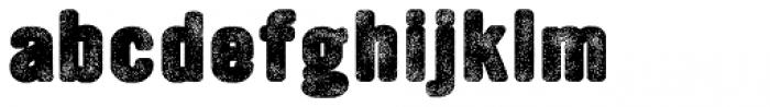 YWFT Ultramagnetic Rough Black One Font LOWERCASE