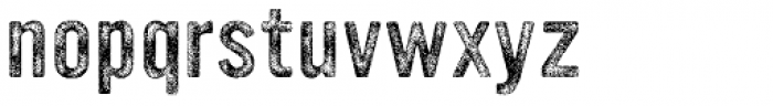 YWFT Ultramagnetic Rough Regular Three Font LOWERCASE