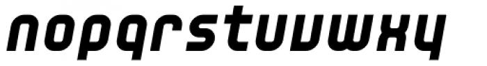 YWFT Unisect Black Oblique Font LOWERCASE