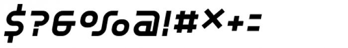 YWFT Unisect ExtraBold Oblique Font OTHER CHARS