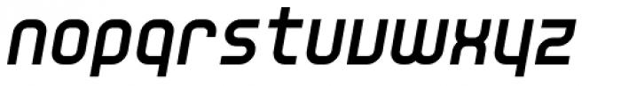 YWFT Unisect ExtraBold Oblique Font LOWERCASE