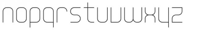 YWFT Unisect Light Font LOWERCASE