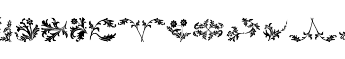 YY Old English Dingbats Font UPPERCASE