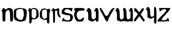 YY Uncial Most Irish Molded Font LOWERCASE