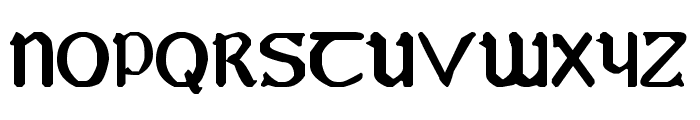 YY Uncial Most Irish Font UPPERCASE