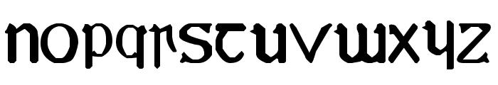 YY Uncial Most Irish Font LOWERCASE